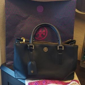 Tory Burch Robinson Double Zip Satchel handbag